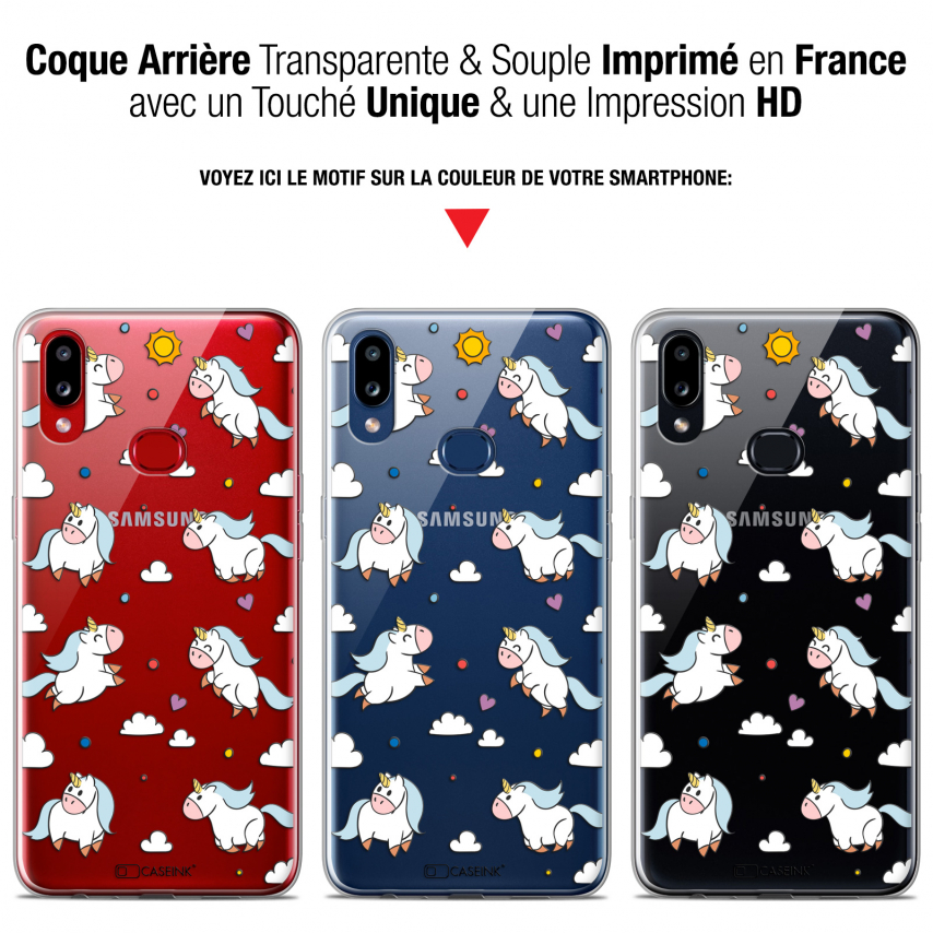"Coque Gel Samsung A10S (6.1"") Extra Fine Fantasia - Licorne In the Sky"