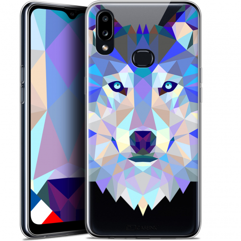 "Coque Gel Samsung A10S (6.1"") Extra Fine Polygon Animals - Loup"