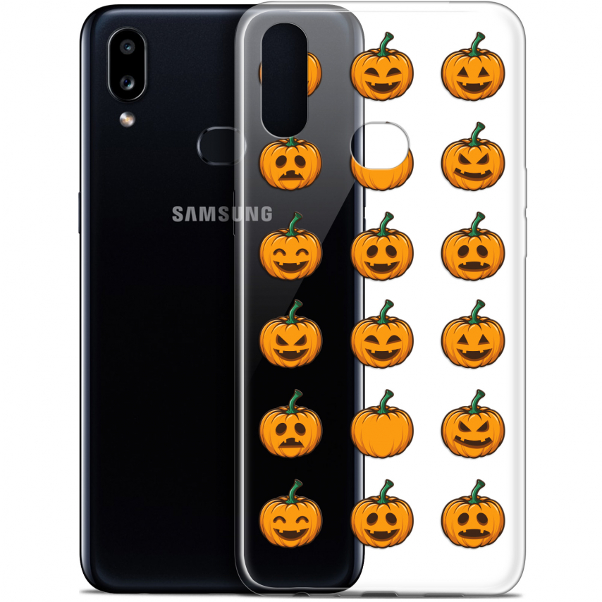 "Coque Gel Samsung A10S (6.1"") Extra Fine Halloween - Smiley Citrouille"