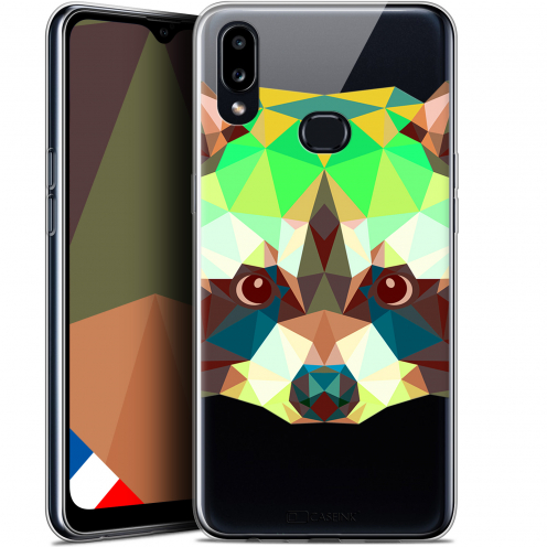 "Coque Gel Samsung A10S (6.1"") Extra Fine Polygon Animals - Raton Laveur"