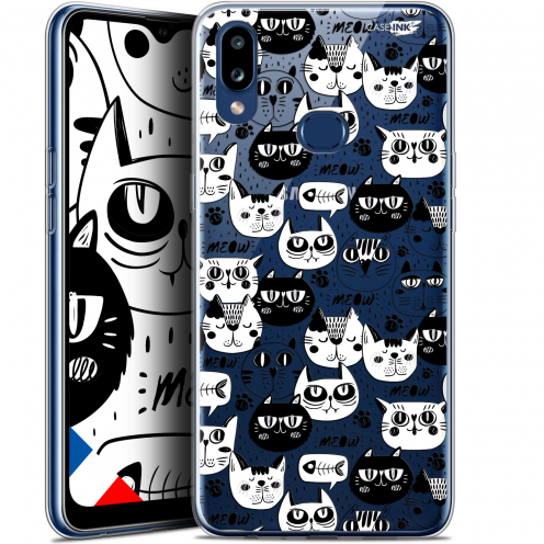 "Coque Gel Samsung A10S (6.1"") Extra Fine Motif - Chat Noir Chat Blanc"