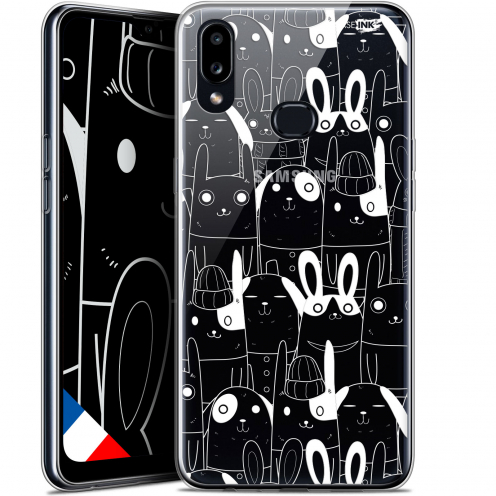 "Coque Gel Samsung A10S (6.1"") Extra Fine Motif - Lapin Blanc"