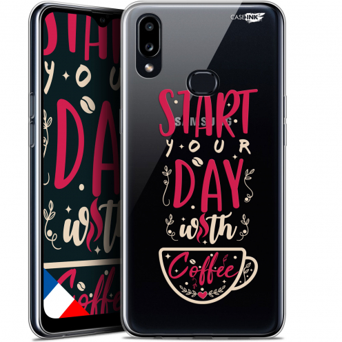 "Coque Gel Samsung A10S (6.1"") Extra Fine Motif - Start With Coffee"
