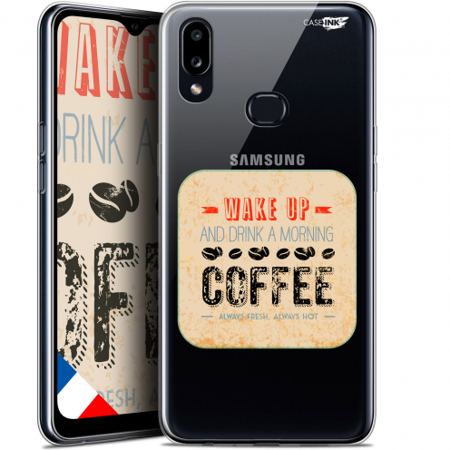 "Coque Gel Samsung A10S (6.1"") Extra Fine Motif - Wake Up With Coffee"