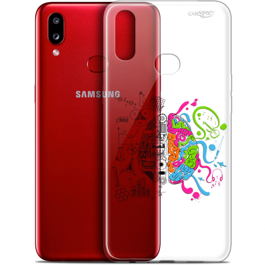 "Coque Gel Samsung A10S (6.1"") Extra Fine Motif - Le Cerveau"