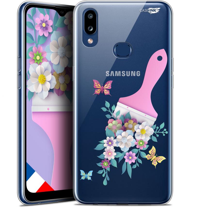 "Coque Gel Samsung A10S (6.1"") Extra Fine Motif - Pinceau à Fleurs"