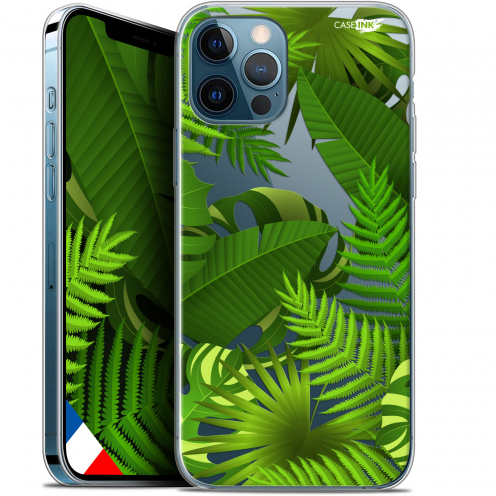 """Coque Gel iPhone 12 Pro MAX (6.7"""") Extra Fine Motif - Plantes des Tropiques"""