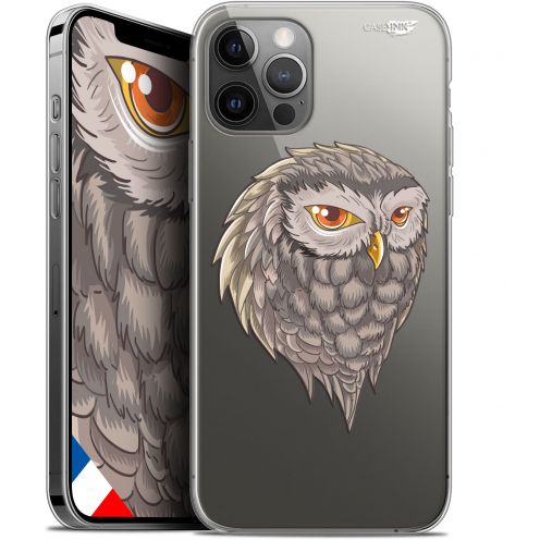 "Coque Gel iPhone 12 Pro MAX (6.7"") Extra Fine Motif - Hibou Draw"