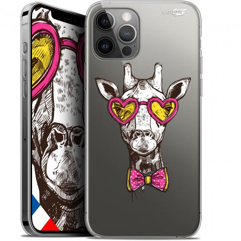 "Coque Gel iPhone 12 Pro MAX (6.7"") Extra Fine Motif - Hipster Giraffe"
