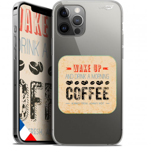 """Coque Gel iPhone 12 Pro MAX (6.7"""") Extra Fine Motif - Wake Up With Coffee"""