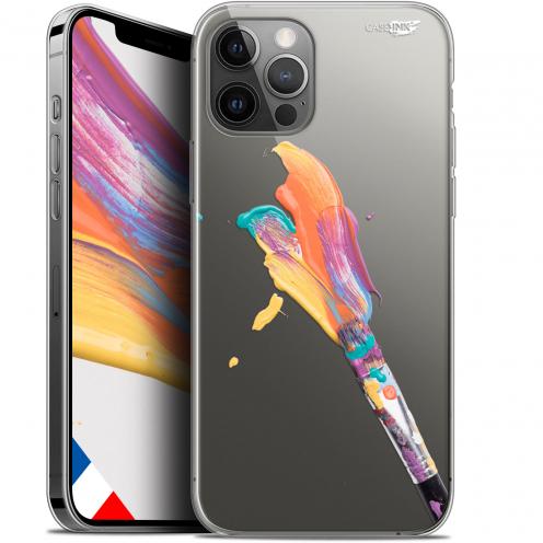 "Coque Gel iPhone 12 Pro MAX (6.7"") Extra Fine Motif - Pinceau de Peinture"