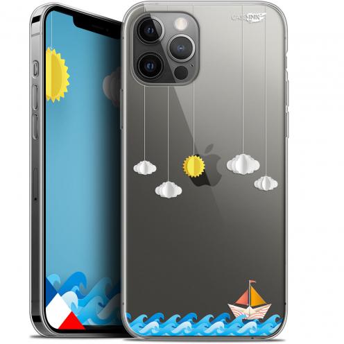 """Coque Gel iPhone 12 Pro MAX (6.7"""") Extra Fine Motif - Petit Bateau en Mer"""