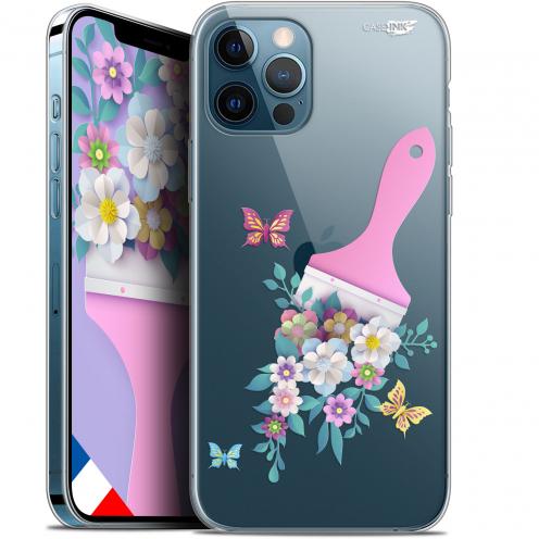 """Coque Gel iPhone 12 Pro MAX (6.7"""") Extra Fine Motif - Pinceau à Fleurs"""