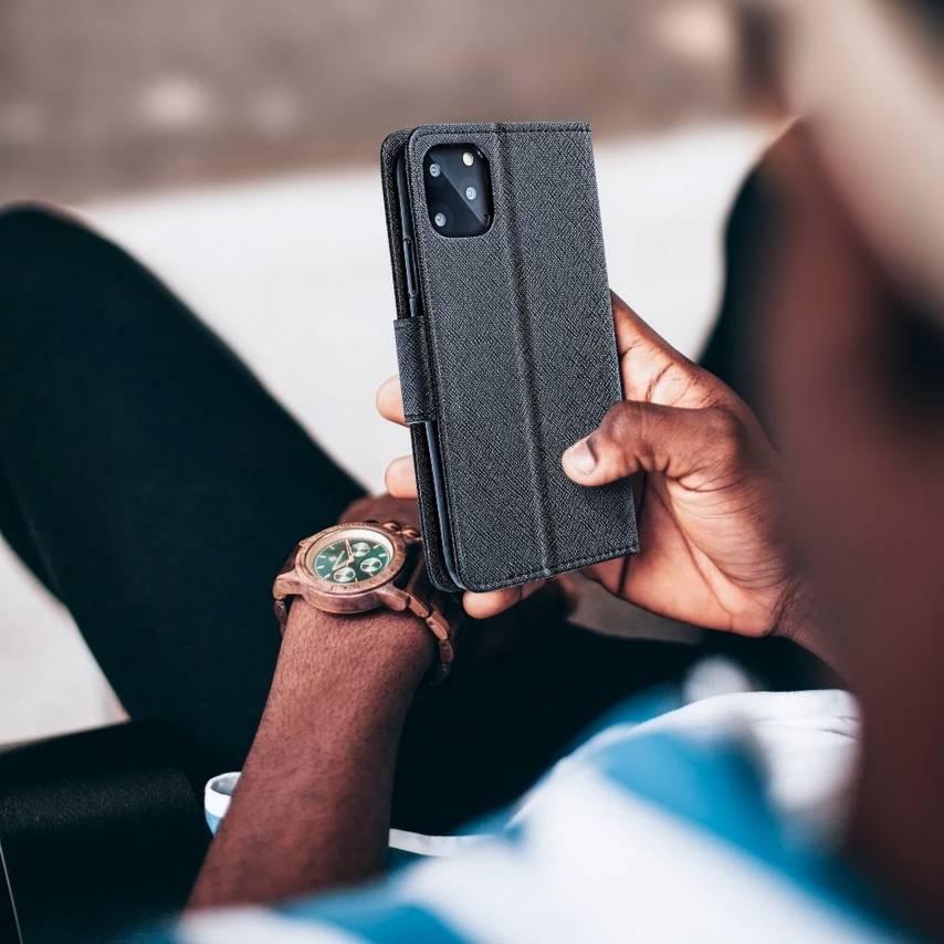 Coque Etui Fancy Book pour Sony Xperia L1 Noir