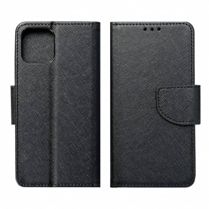 Coque Etui Fancy Book pour Samsung A71 Noir