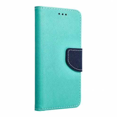 Coque Etui Fancy Book pour Samsung Galaxy S6 mint/navy