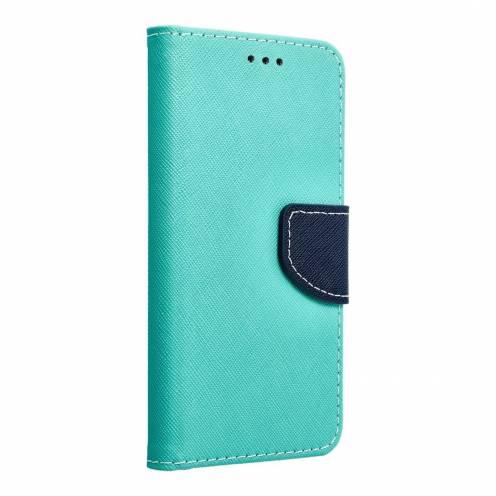 Coque Etui Fancy Book pour Samsung Galaxy S6 mint/navy