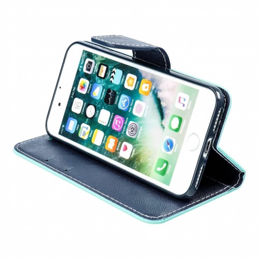 Coque Etui Fancy Book pour Apple iPhone 7 / 8 / SE 2020mint/navy