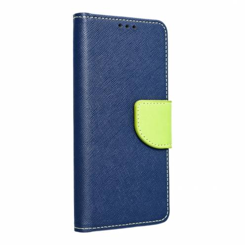 Coque Etui Fancy Book pour Samsung A40 navy/lime