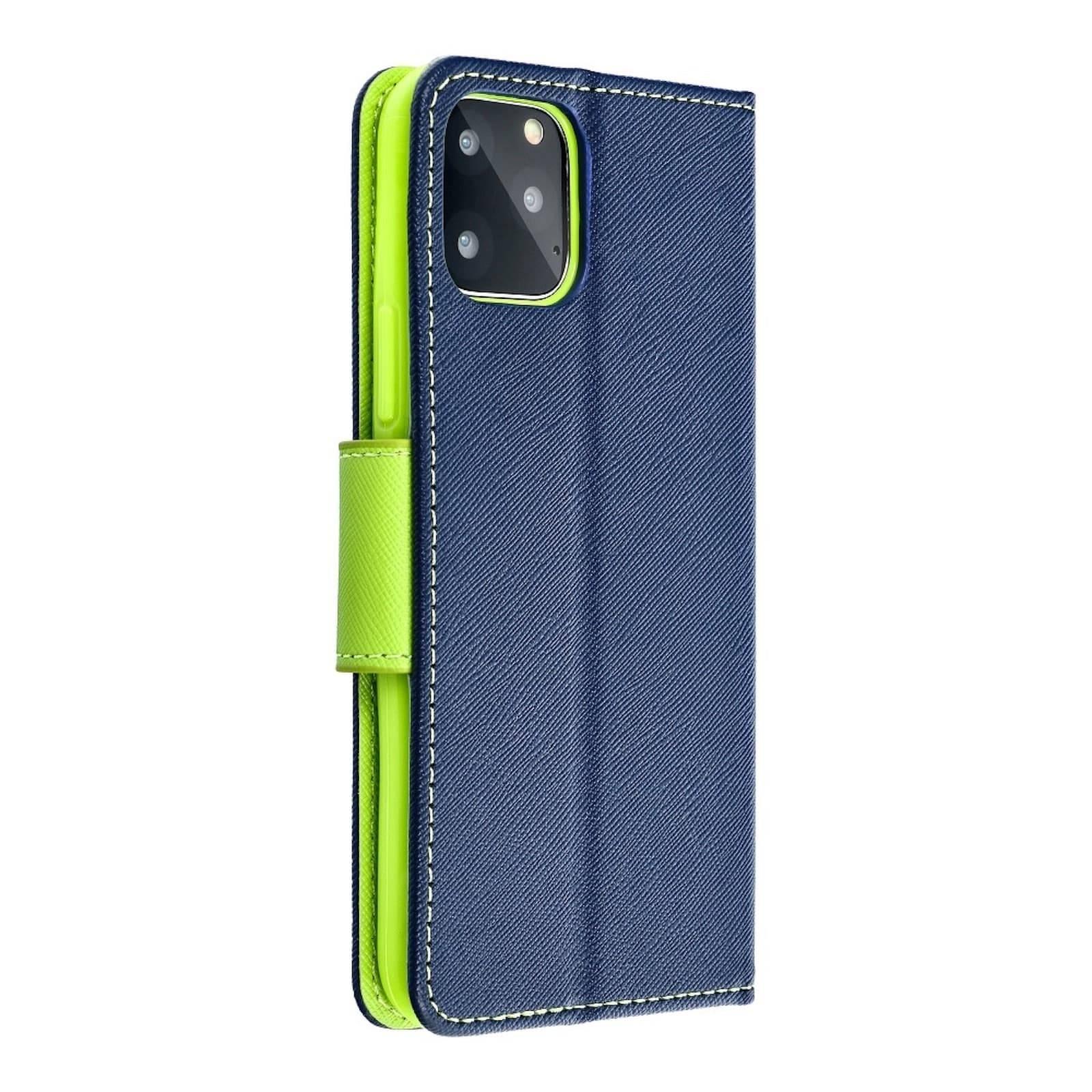 Coque Etui Fancy Book pour Samsung Note 10 Lite navy/lime