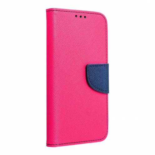Coque Etui Fancy Book pour Samsung Galaxy J3/ J3 2016 Rose/navy