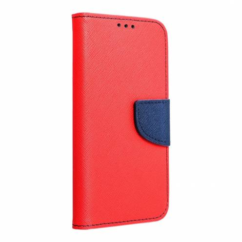 Coque Etui Fancy Book pour Huawei Y7 2019 Rouge/navy