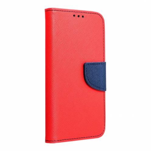 Coque Etui Fancy Book pour Samsung A6 2018 Rouge/navy