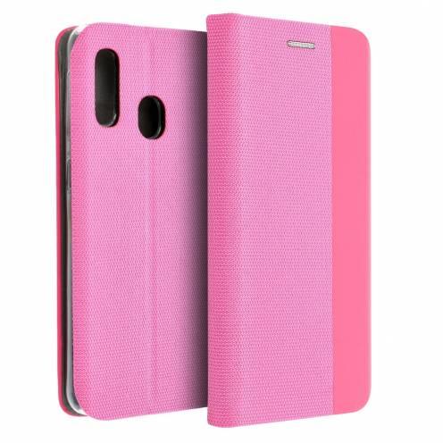 Coque Folio Sensitive Book pour Samsung A20e light Rose