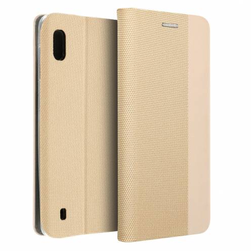 Coque Folio Sensitive Book pour Samsung A10 Or
