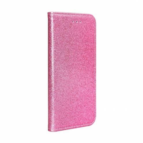 Coque Folio SHINING Book pour Samsung A40 light Rose