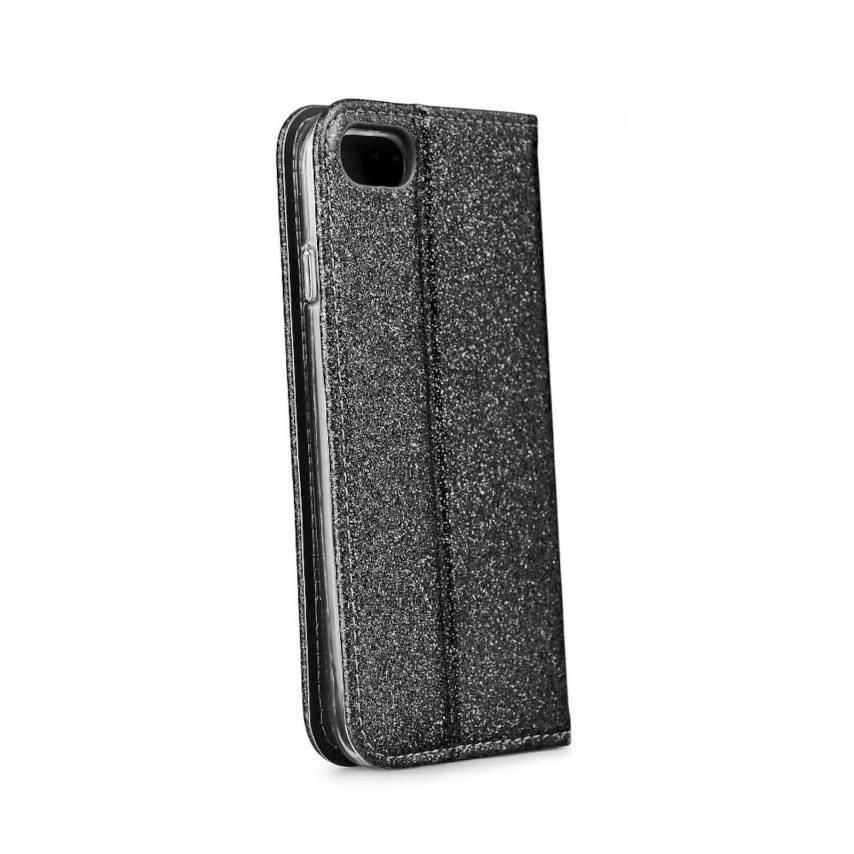 Coque Folio SHINING Book pour Samsung A71 Noir