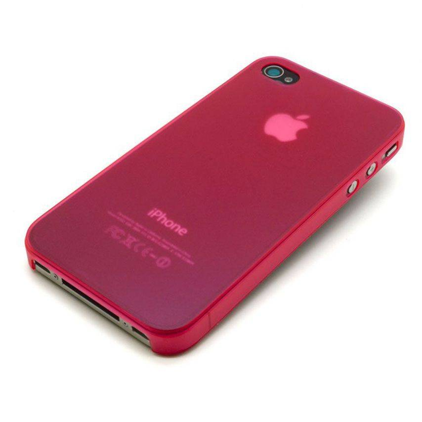Visuel unique de Coque Ultra Fine 0.3mm Frost iPhone 4/4S Rouge