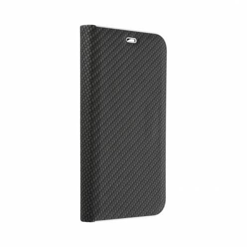 Coque Folio Luna Carbon pour Huawei Y7 2019 Noir