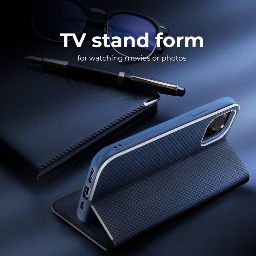 Coque Folio Luna Carbon pour Samsung Galaxy A71 blue