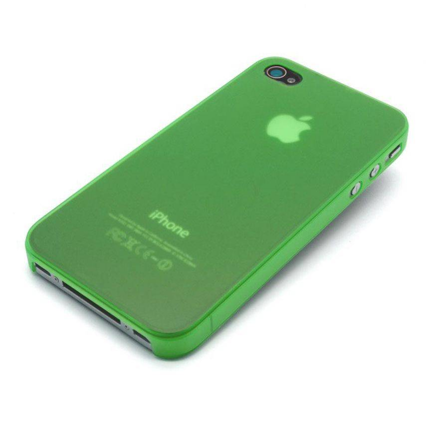 Visuel unique de Coque Ultra Fine 0.3mm Frost iPhone 4/4S Verte