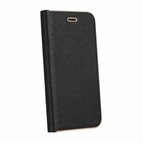 Coque Folio Luna Book pour Samsung Galaxy J3/J3 2016 Noir