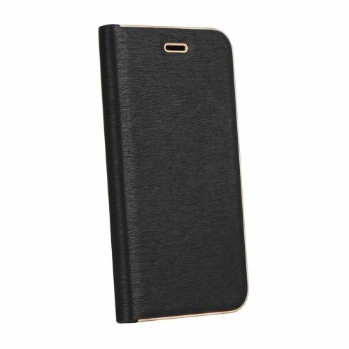 Coque Folio Luna Book pour Samsung Galaxy A6 Plus 2018 Noir