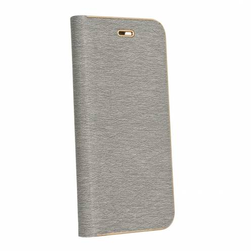 Coque Folio Luna Book pour Samsung Galaxy A6 2018 Argent