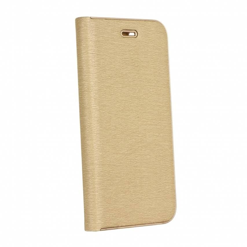 Coque Folio Luna Book pour Samsung Galaxy A71 Or
