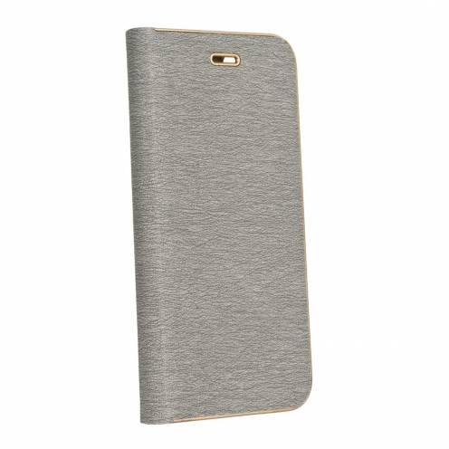 Coque Folio Luna Book pour Huawei P Smart Argent