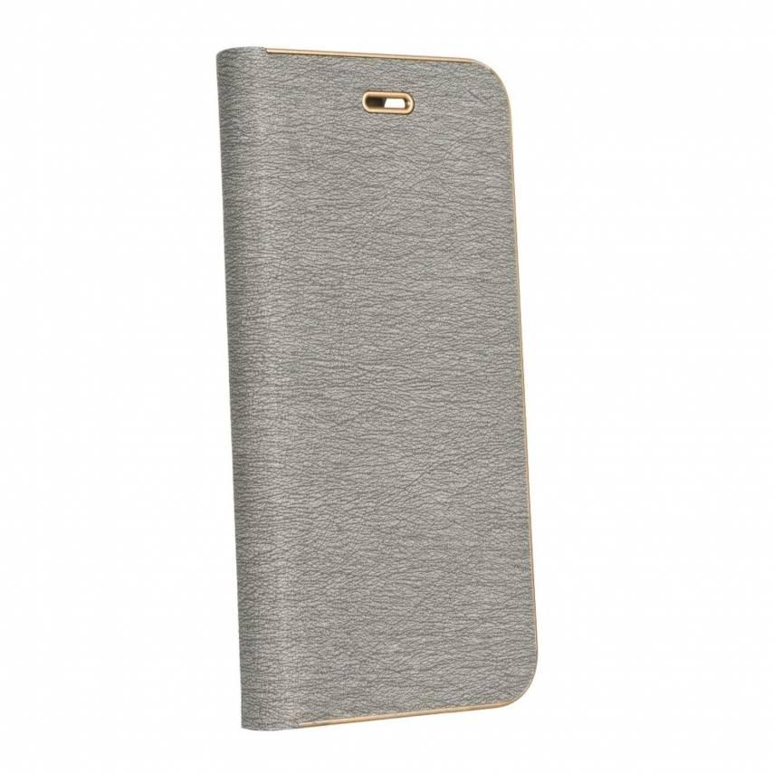 Coque Folio Luna Book pour Samsung Galaxy A21s Argent