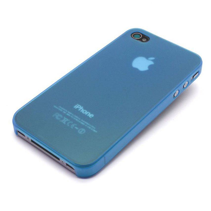 Visuel unique de Coque Ultra Fine 0.3mm Frost iPhone 4/4S Bleue