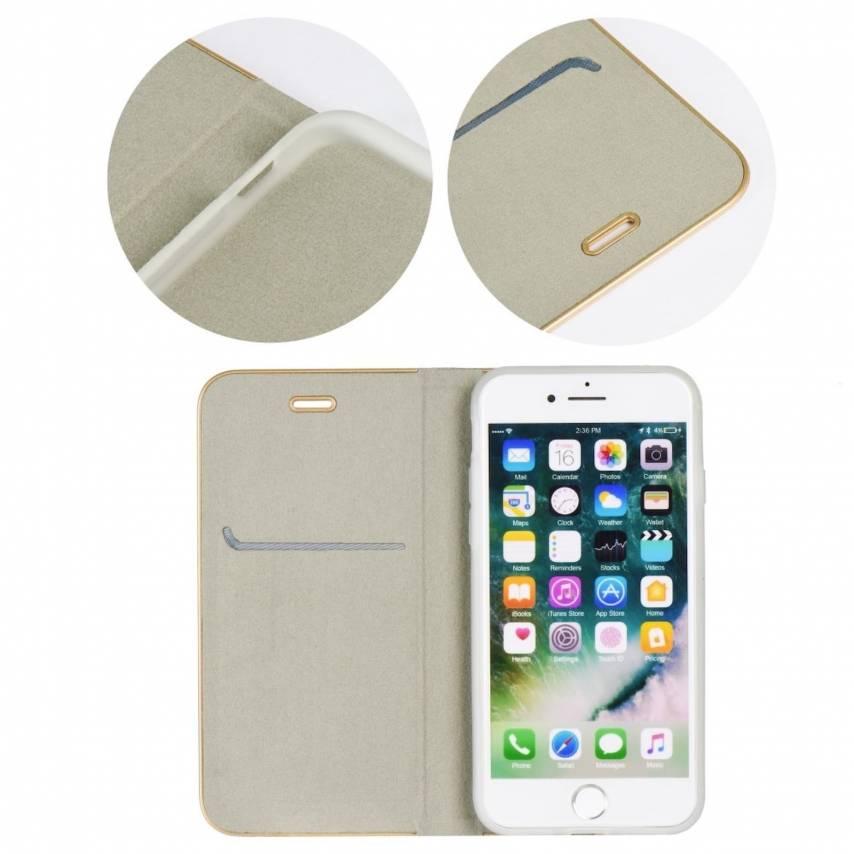 Coque Folio Luna Book pour Apple iPhone X Argent