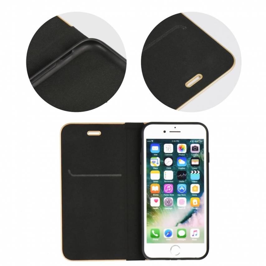 Coque Folio Luna Book pour Samsung Galaxy A10 Noir