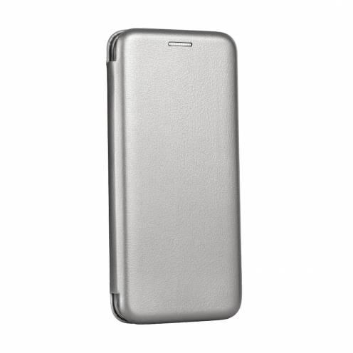 Coque Etui Book Elegance pour Samsung A6 2018 Gris
