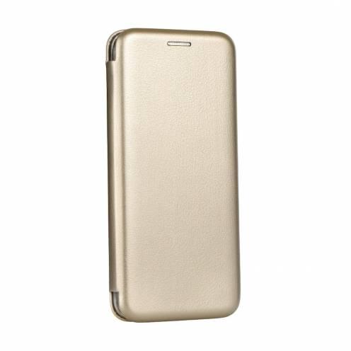 Coque Etui Book Elegance pour Samsung Galaxy J3 2017 Or