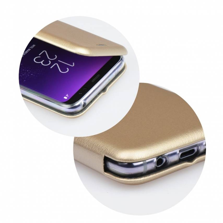 Coque Etui Book Elegance pour Apple iPhone 7 / 8 Or