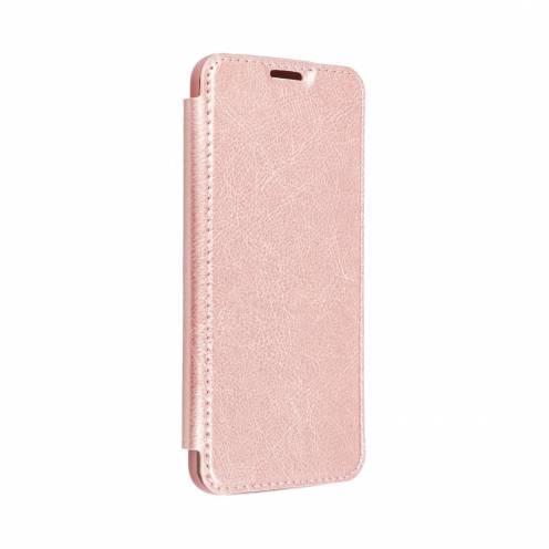 Coque Etui Electro Book pour Samsung A40 rose Or
