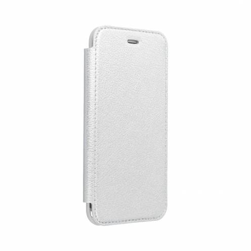 Coque Etui Electro Book pour Samsung A50 Argent