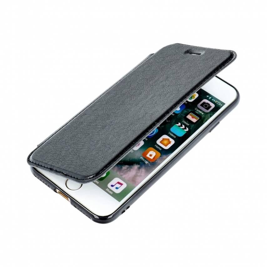 Coque Etui Electro Book pour Samsung A10 Noir